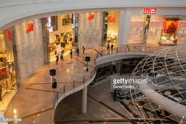 Customers queue up outside H&M at Chadstone Shopping Centre on October 28, 2020 in Melbourne, Australia. Lockdown restrictions in Melbourne lifted as...
