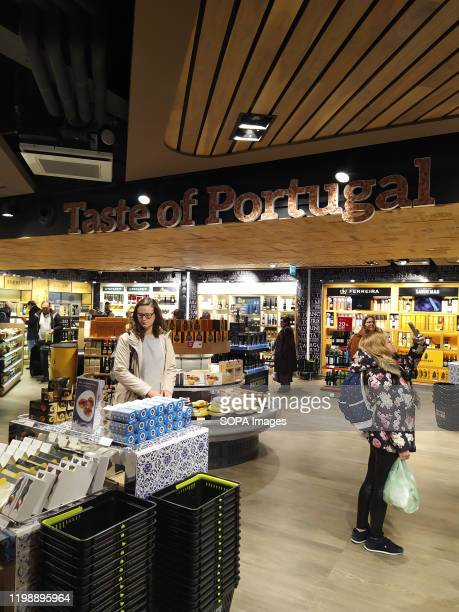 Customers seen at the Duty Free Store in Porto airport