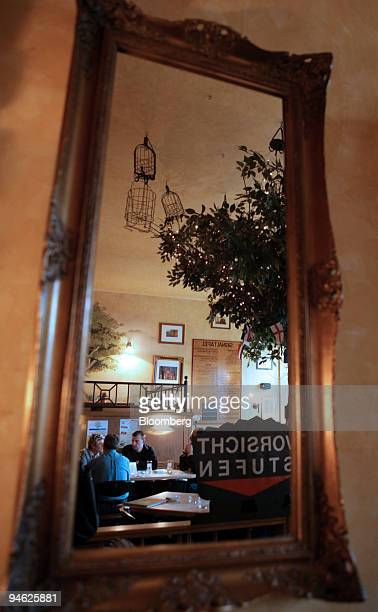 Customers seen inside Brauhaus Hibernia in Gelsenkirchen Germany Wednesday May 31 2006 Gelsenkirchen a former coal town in the Ruhr Valley of...