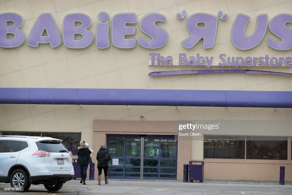 Customers shop at a Babies 'R' Us store on January 24, 2018 in Chicago, Illinois. The store is one of more than 180 stores that the parent company, Toys 'R' Us, is planning to close. The closings involve about one-fifth of the company's Toys 'R' Us and Babies 'R' Us U.S. store fleet. The company recently filed for bankruptcy protection.