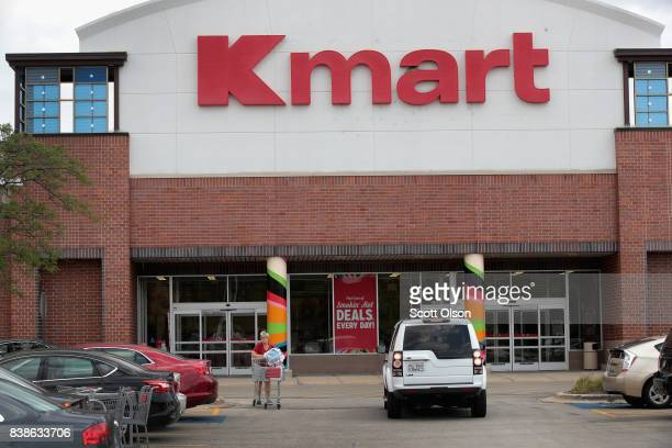 Customers shop at a Kmart store on August 24 2017 in Elmhurst Illinois Sears Holdings Corporation the owner of Kmart said today it was planning on...
