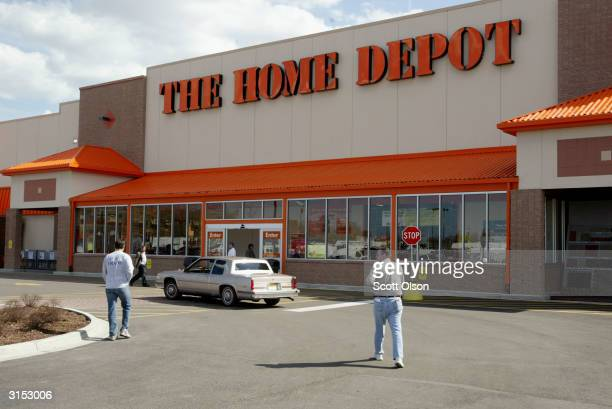 Customers shop at a recently opened Home Depot Store March 29 2004 in Chicago Illinois Home Depot has launched an online gift registry where...