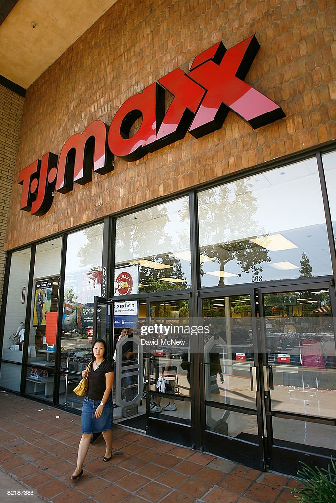 Customers shop at a TJ Maxx store on August 5, 2008 in La Canada ...