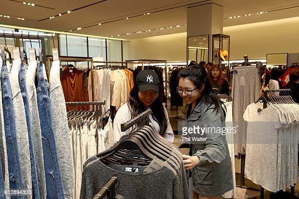 Customers shop for clothing following the opening of New Zealand's first Zara store at Sylvia Park on October 6 2016 in Auckland New Zealand