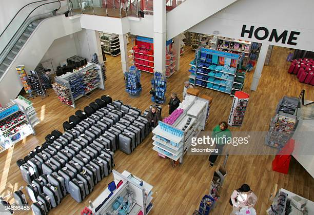 Customers shop in the home department of a Matalan store Tuesday February 28 in Dartford UK Matalan Plc the UK's largest discount clothing retailer...