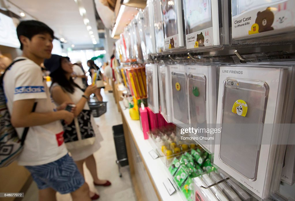 Customers shop inside Line Corp.'s LINE Friends Harajuku store on July 11, 2016 in Tokyo, Japan. Japanese messaging app provider LINE Corp., owned by South Korean portal Naver Corp., announced it has set the price of its initial public offering at 35 million shares at 3,300 yen apiece on Monday. The company expects to list on the New York Stock Exchange on July 14 and also on the Tokyo Stock Exchange on July 15.