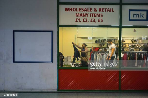 Customers take advantage of final deals at MK One inside Elephant Castle Shopping Centre in Elephant Castle on September 24 2020 in London United...