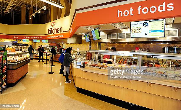 Customers take advantage of the new Food Court at Hannaford Brothers near Backcove