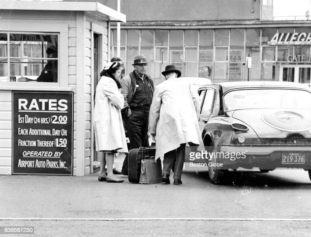 Customers take advantage of valet parking service at Logan Airport in Boston on Apr 24 1963