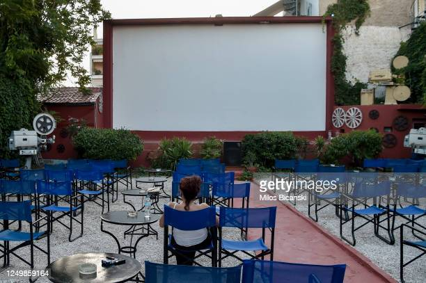Customers take their seats at Zephyros openair cinema as the measures against coronavirus ease on June 15 2020 in Athens Greece The country removed...