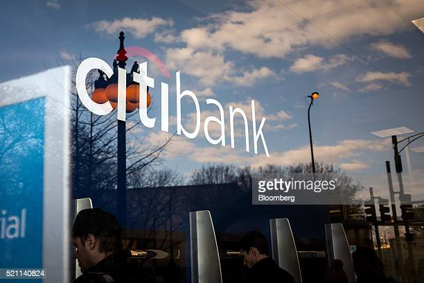 Customers use automated teller machines at a Citigroup Inc Citibank branch in Chicago Illinois US on Monday April 11 2016 Citigroup Inc is scheduled...