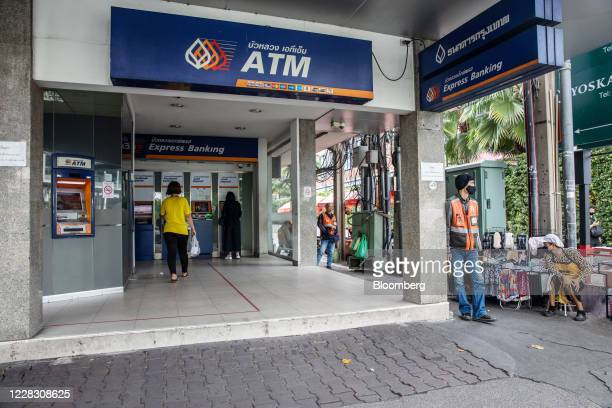 Customers use Bangkok Bank PCL automated teller machines in Bangkok Thailand on Wednesday Sept 2 2020 Thailand has reported zero locallytransmitted...