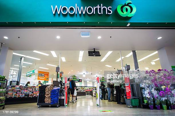 Customers use selfcheckout machines at a Woolworths supermarket operated by Woolworths Ltd in Sydney Australia on Tuesday Aug 27 2013 Woolworths Ltd...