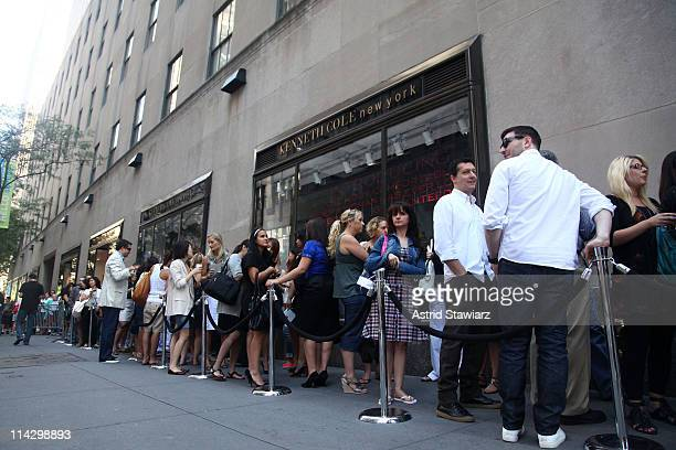 Customers wait for the Silver 925 Technology launch at the Kenneth Cole New York Rockefeller Center Store on August 7, 2009 in New York City.