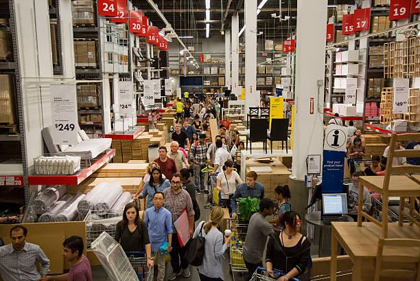 Fotos und bilder von inside an ikea store ahead of durable goods