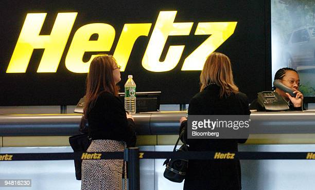 Customers wait in the Hertz rental car line at the Fort Lauderdale Florida International Airport on Monday January 23 2006 Ford Motor Co the world's...