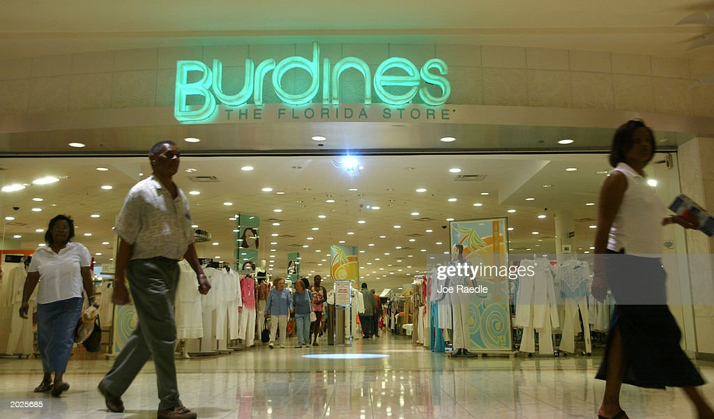 Customers Walk Out Of Burdines The Day After The Company