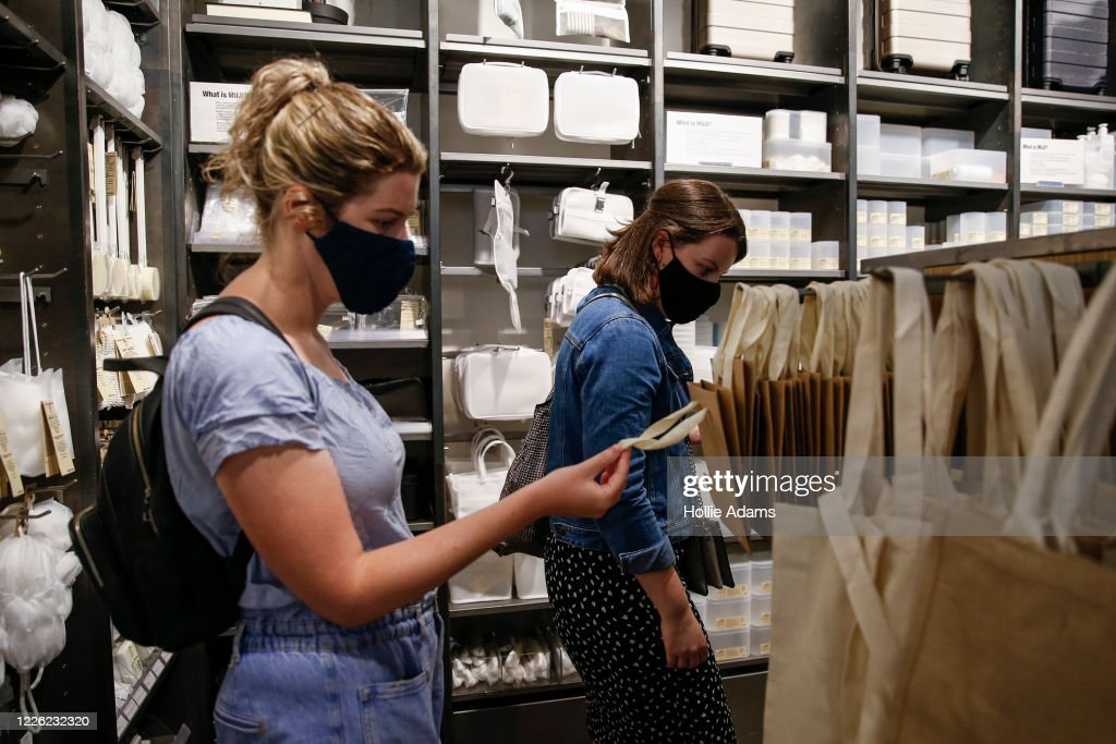 Mandatory Face Masks In Shops Considered By British Government : News Photo