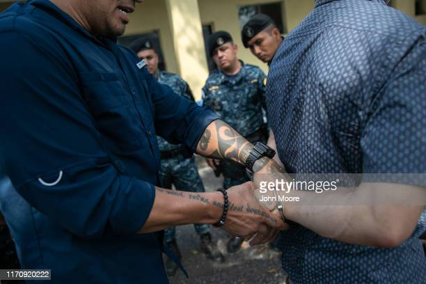 Customs and Border Protection agents instruct Guatemalan border police on arrest techniques on August 28, 2019 in Ciudad Pedro de Alvarado,...