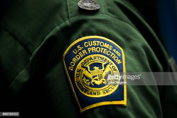 S Customs and Border Protection patch is displayed on the sleeve of Ronald D Vitiello Acting Deputy Commissioner of US Customs and Border Protection...