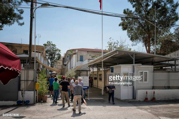 customs at the border of the divided city of nicosia. - emreturanphoto stock pictures, royalty-free photos & images