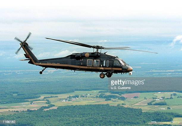 S Customs Blackhawk provides air security around Washington DC following the September 11 terrorist attack in an undated photo