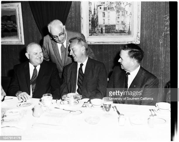 Customs commissioner, 2 June 1958. Bernard J.l Caughlin ;Ralph Kelly ;William Harrington ;Colonel Carl White.;Supplementary material reads: 'Gershon....