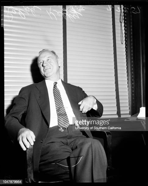 Customs Commissioner, 29 July 1957. Ralph Kelly .;Caption slip reads: 'Photographer: Lapp. Date: . Reporter: Adler. Assignment: Customs Commissioner....