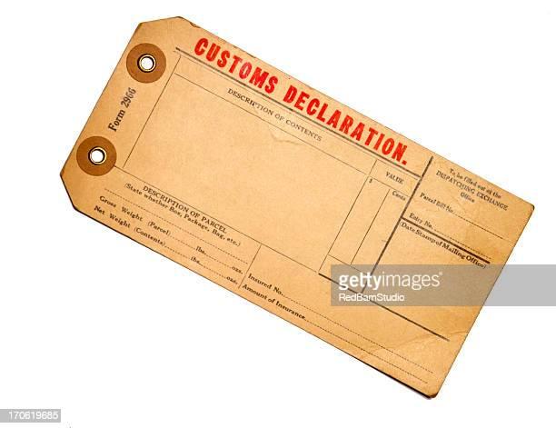 Customs Erklärung