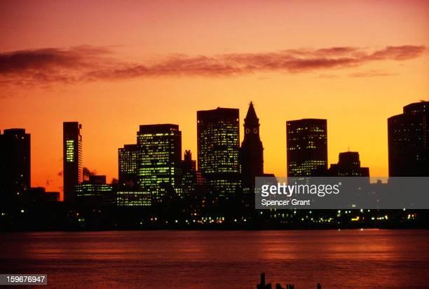 Customs House skyline from East Boston Boston Massachusetts 1978