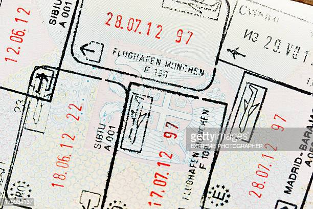 customs official stamps - passport stamp stock pictures, royalty-free photos & images