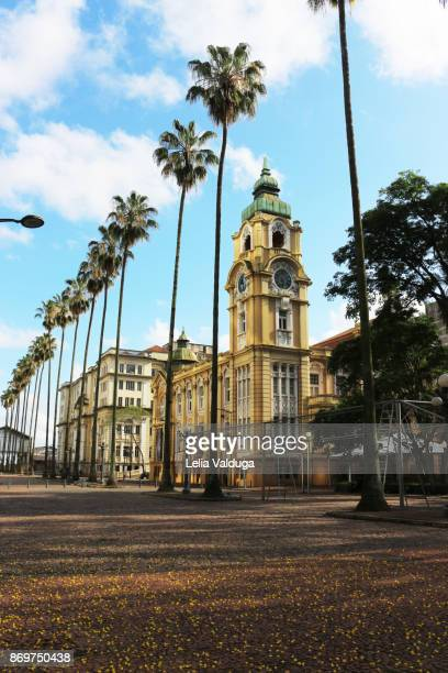 customs square and the post office building. - porto alegre stock pictures, royalty-free photos & images