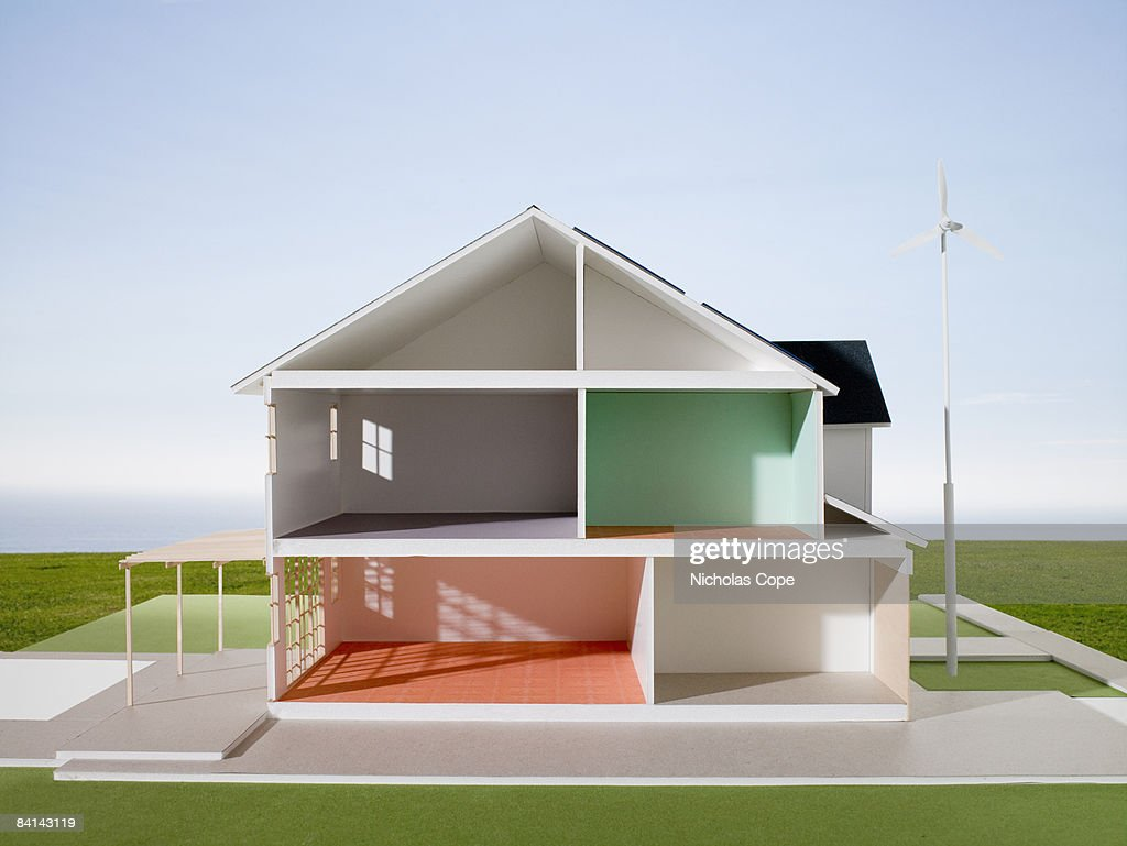 Cut away view of architectural model.  : Stock Photo