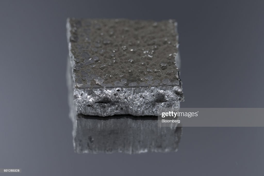 A cut cobalt cathode, owned by Cobalt 27 Capital Corp., sits in this arranged photograph in Rotterdam, Netherlands, on Monday, Jan. 22, 2018. Cobalt 27 holds almost 3,000 metric tons of cobalt, the largest private stockpile on the planet. Photographer: Jasper Juinen/Bloomberg via Getty Images