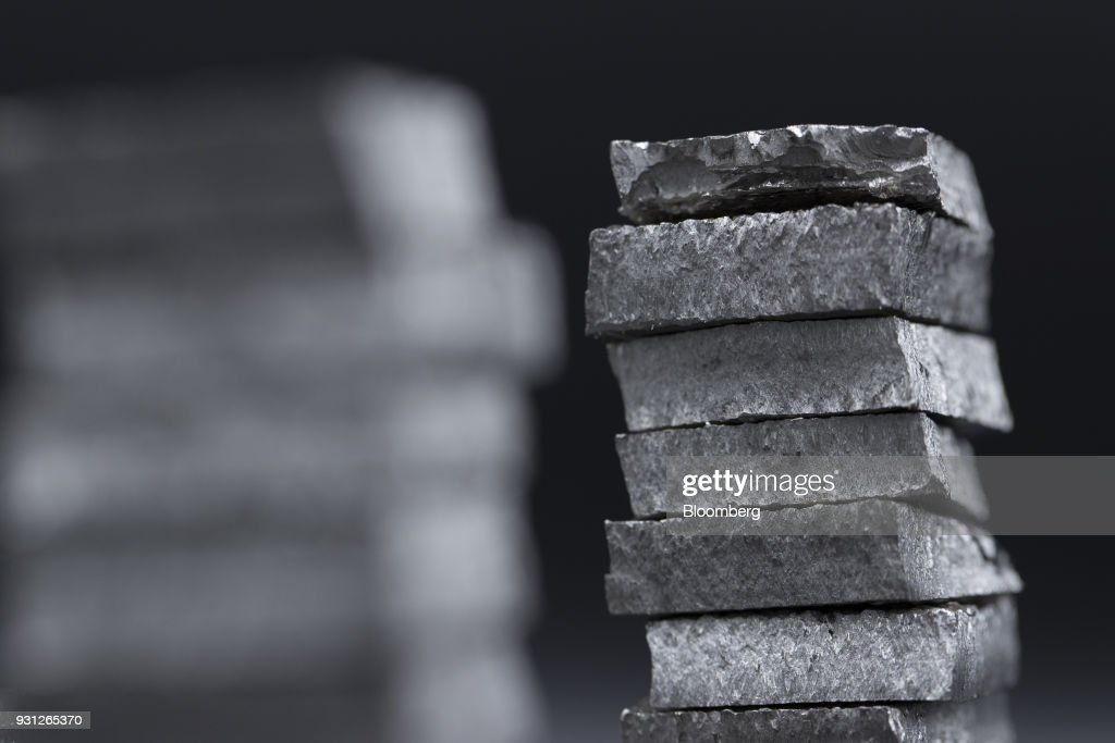 Cut cobalt cathodes, owned by Cobalt 27 Capital Corp., sit stacked in this arranged photograph in Rotterdam, Netherlands, on Monday, Jan. 22, 2018. Cobalt 27 holds almost 3,000 metric tons of cobalt, the largest private stockpile on the planet. Photographer: Jasper Juinen/Bloomberg via Getty Images