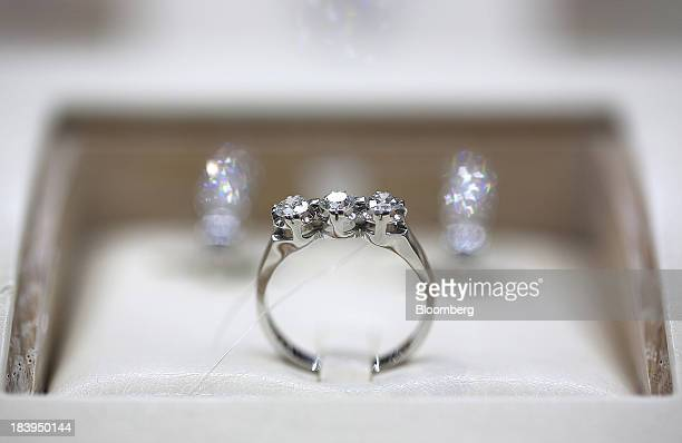 Inside A Kristall Production Corp Luxury Diamond Store Stock Photos