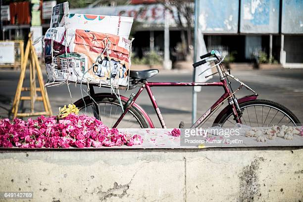 Cut Flowers For Sale On Retailing Wall