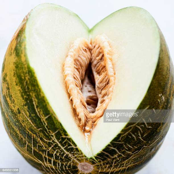 cut fresh melon