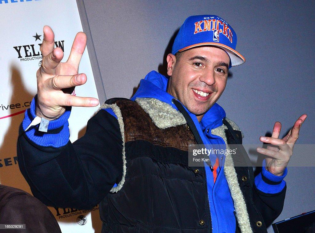 DJ Cut Killer attends the 'Paris By Night' Bob Sinclar CD Launch Concert Party At La Gaite Lyrique on April 2, 2013 in Paris, France.