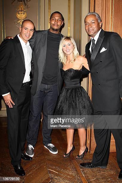 Cut Killer guest Enora Malagre and Tony Parker Senior attend the 'ParCoeur Gala' at Mairie de Paris on September 26 2011 in Paris France