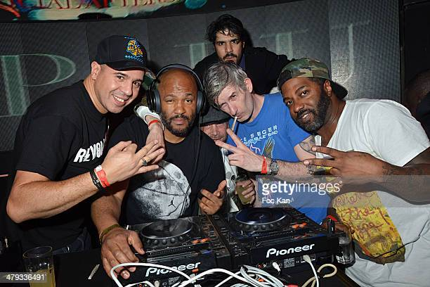 Cut Killer Papa Lu Ramzy Bedia Kavinsky and Youssoupha attend the Kavinsky Olympia Concert After DJ Set Party at the VIP Room Theater on March 17...