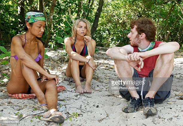 "'Cut Off the Head of the Snake' Brenda Lowe Andrea Boehlke and John Cochran during the ninth episode of SURVIVOR CARAMOAN "" FANS VS FAVORITES..."