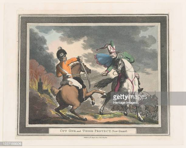 Cut One and Thigh Protect New Guard 1798 Artist Thomas Rowlandson