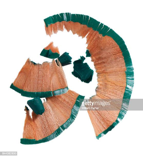 A cut out beauty image of make up pencil shavings
