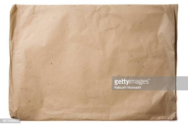 cut out brown paper texture background - brown paper stock pictures, royalty-free photos & images