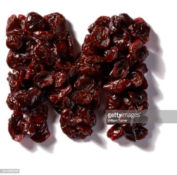 A cut out food image of dried cranberries