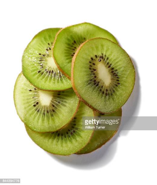 A cut out food image of kiwi fruit slices