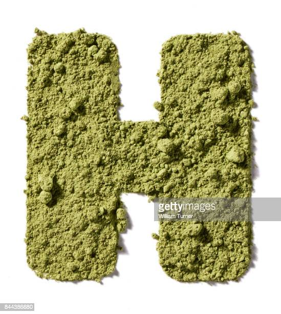 A cut out food image of superfood greens powder