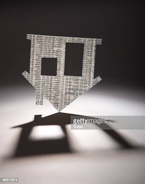 Cut out of home upside down