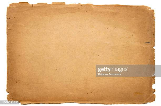 Cut out old brown paper texture background